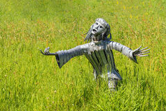 Female Metal Sculpture, Hampton Court, Herefordshire, England. Stock Images