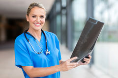 Female middle aged doctor Stock Photography