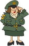 Female Military vector illustration