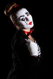 Female mime artist Royalty Free Stock Image