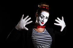 Female mime artist Stock Image