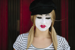 Female Mime Royalty Free Stock Images