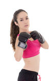 Female mixed martial arts fighter in MMA style Royalty Free Stock Photography