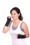 Female mixed martial arts fighter wearing MMA Stock Images