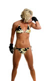 Female MMA Fighter Stock Photo