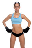 Female MMA Fighter stock image