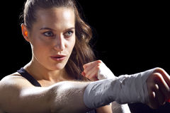 Female MMA Fighter Stock Images