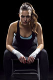 Female MMA Fighter Royalty Free Stock Photography