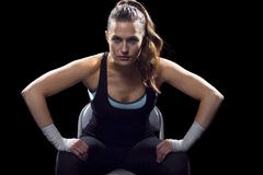 Female MMA Fighter Stock Photo