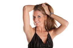 Female Model. Attractive Female Model On White Isolated Background Royalty Free Stock Photo