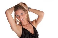 Female Model. Gorgeous Female Model on White Isolated Background Royalty Free Stock Photo