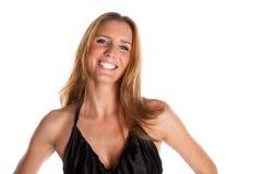 Female Model. Sexy Female Model on White Isolated Background Stock Image