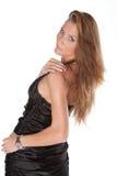 Female Model. Sexy Female Model on White Isolated Background Royalty Free Stock Image