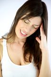 Female model with bad headache Royalty Free Stock Photos