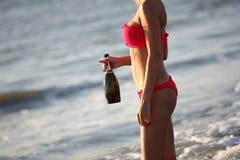 Female model on the beach Royalty Free Stock Photos