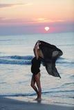 Female model on the beach Stock Photos