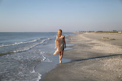 Female model on the beach Stock Photography