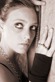 Female Model with Beads Royalty Free Stock Photos