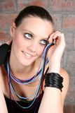 Female Model with Beads Royalty Free Stock Photography