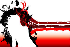 Female model composition. Female model abstract composition Royalty Free Illustration