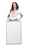 Female model in cosplay costume isolated on white Stock Photos