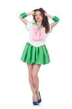 Female model in cosplay costume isolated on the Stock Photos