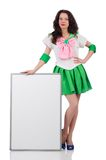 Female model in cosplay costume isolated on the Royalty Free Stock Photos