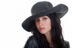 Female Model in a Hat Stock Images