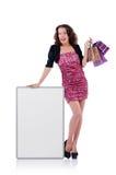 Female model isolated on white Stock Photo