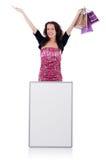 Female model isolated on white Stock Photos