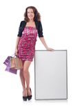 Female model isolated on the white Stock Photography