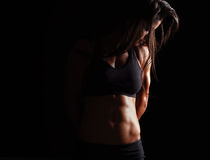 Female model with muscular body Royalty Free Stock Image