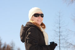 Female model outdoors in winter Stock Photography