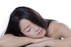 Female model with perfect skin taking a rest Royalty Free Stock Photography