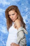 Female model posing expressions Royalty Free Stock Images