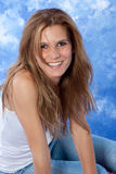Female model posing expressions. Female model posing a natural smile Royalty Free Stock Photos