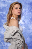 Female model posing expressions. This photo shows a young female model posing Royalty Free Stock Photos