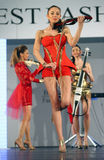 Female model at a Romanian fashion show in Bucharest city Stock Photography