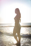 Female model in the sea Royalty Free Stock Photography