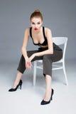 Female model wearing bra Royalty Free Stock Photography