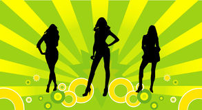 Female models vector. Female models asbtract vector composition Stock Image