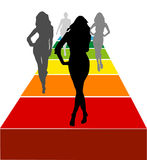 Female models vector Royalty Free Stock Image