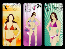 Female models vector Stock Photography