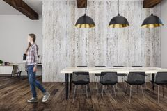 Female in modern meeting room Royalty Free Stock Image