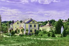 Female monastery. Beautiful places of Moscow suburbs Stock Photos