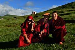 Female Monk in Tibet Royalty Free Stock Photos