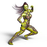 Female monster. 3D CG rendering of a female monster Royalty Free Stock Photography