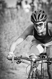 Female Mountain Bike Rider Royalty Free Stock Photo
