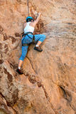 Female Mountain Climber Woman Royalty Free Stock Photography
