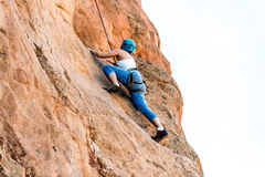 Female Mountain Climber Woman Stock Photography